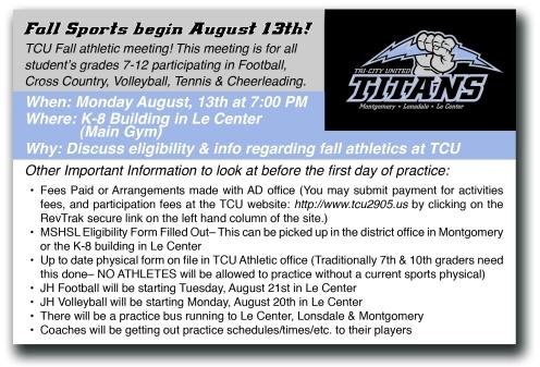 Titan Sports Postcard